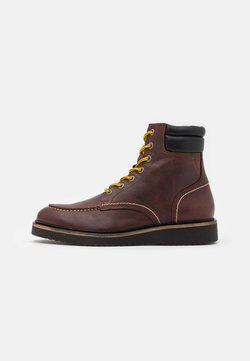 Selected Homme - SLHTEO BOOT - Schnürstiefelette - demitasse