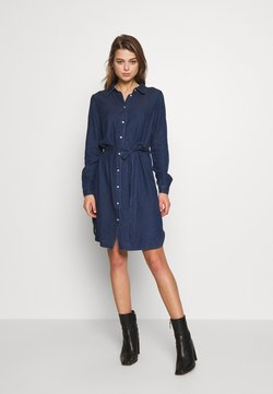Vila - VIBISTA BELT DRESS - Jeanskleid - dark blue