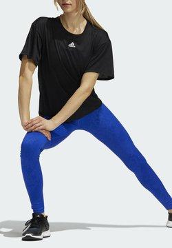 adidas Performance - BT CAMO L TIGHT - Legginsy - blue