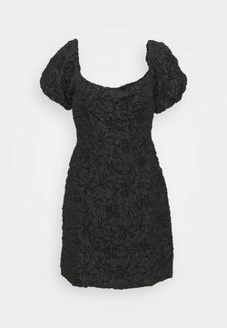 Glamorous Petite - PUFF SLEEVE STRUCTURED MINI DRESS - Cocktail dress / Party dress - black brocade