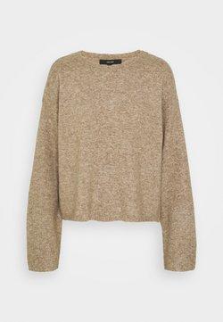Vero Moda - VMPLAZA BOXY - Sweter - sepia tint melange