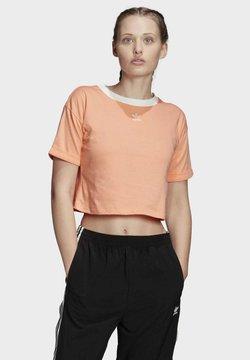 adidas Originals - CROP TOP - Printtipaita - orange