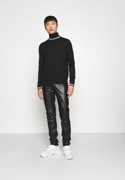 GCDS - CHAIN TURTLENECK UNISEX - Strikpullover /Striktrøjer - black