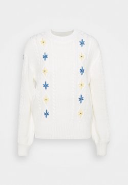 Dorothy Perkins - EMBROIDERED JUMPER - Strickpullover - cream