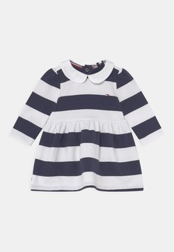 Tommy Hilfiger - BABY RUGBY STRIPE DRESS - Vestido informal - twilight navy