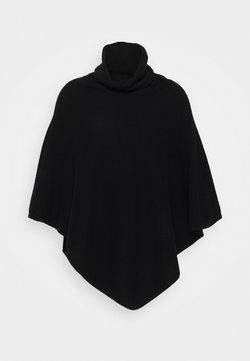 Davida Cashmere - TRIANGLE POLO PONCHO - Cape - black