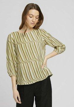 TOM TAILOR - Bluse - green watercolor stripe