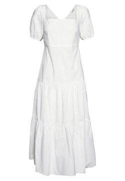 Glamorous - SHORT SLEEVE TIERED DRESS - Maxikleid - white