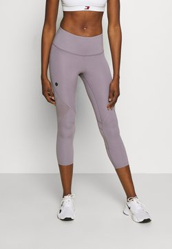 Under Armour - RUSH CROP - Tights - slate purple