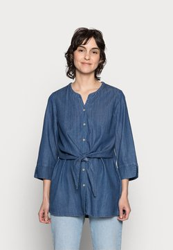 Thought - ESTHER TIE WAIST SHIRT - Blouse - chambray blue