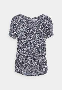 TOM TAILOR DENIM - FEMININE WITH ZIPPER - T-Shirt print - blue