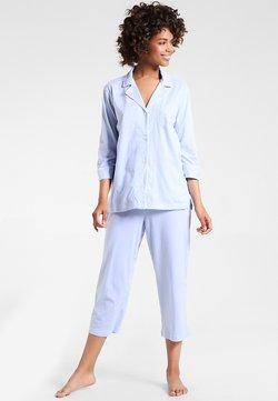 Lauren Ralph Lauren - HERITAGE 3/4 SLEEVE CLASSIC NOTCH COLLAR SET - Yöasusetti - french blue/ white