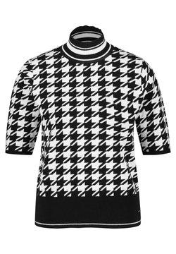 Taifun - MIT HAHNENTRITT - T-Shirt print - black gemustert