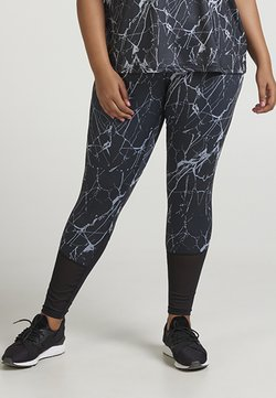 Active by Zizzi - AMARBLE LONG PANT - Tights - black