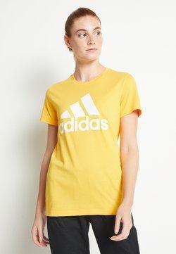 adidas Performance - BOS TEE - Printtipaita - gold