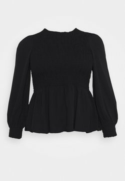 Vero Moda Curve - VMABELIA SMOCK - Bluse - black