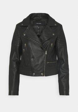 Vero Moda - VMSHILA SHORT JACKET - Veste en cuir - black