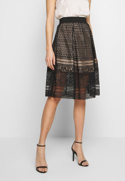 Molly Bracken - LADIES SKIRT - Spódnica trapezowa - black