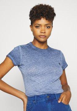G-Star - EYBER SLIM R T WMN S\S - T-Shirt print - sartho blue