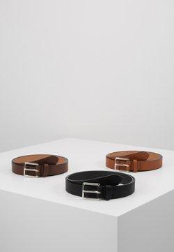 Pier One - 3 PACK - Skärp - cognac/black/brown