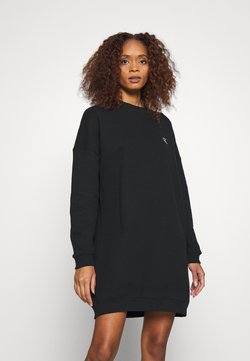 Calvin Klein Jeans - DRESS WITH CHEST LOGO - Day dress - black