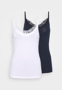 Vero Moda - VMINGE SINGLET 2 PACK  - Débardeur - navy blazer/bright white