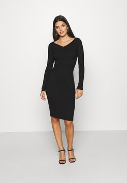 Even&Odd - JUMPER DRESS - Etuikleid - black