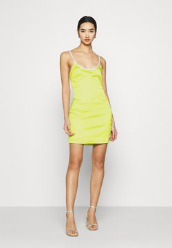 Missguided - EMBELLISHED NECK BODYCON DRESS - Cocktailkleid/festliches Kleid - lime