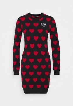 Love Moschino - Abito in maglia - black