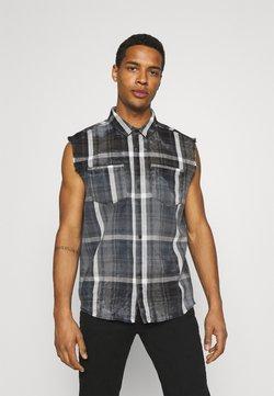 Tigha - MARENO - Camisa - black/stone grey