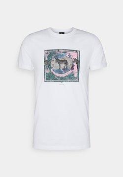 PS Paul Smith - SLIM FIT ZEBRA - T-Shirt print - white