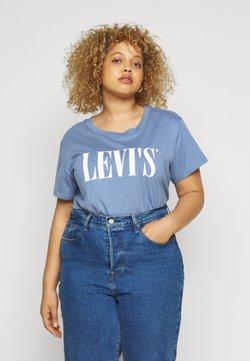 Levi's® Plus - VARSITY TEE - T-Shirt print - blue