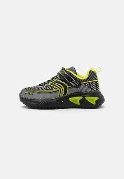 Geox - ASSISTER BOY - Sneaker low - black/lime