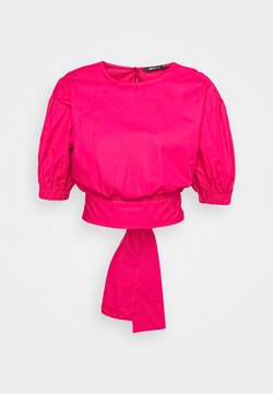 Gina Tricot - JULIA OPEN BACK BLOUSE - Bluse - pink