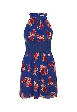 VILA PETITE - VIMILINA FLOWER DRESS PETITE - Freizeitkleid - mazarine blue