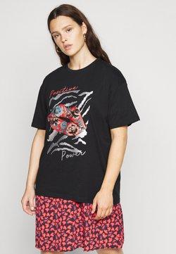 Simply Be - SLOGAN  - T-shirt z nadrukiem - black