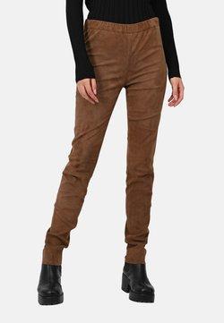 Oakwood - CASSIOPEE - Pantalon en cuir - light brown