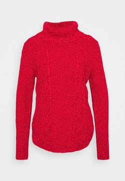 GAP - CABLE T NECK - Strickpullover - modern red