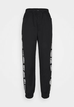 Tommy Jeans - JOGGER TAPE RELAXED - Jogginghose - black