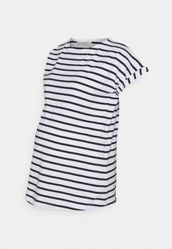 JoJo Maman Bébé - BOYFRIEND - T-shirt con stampa - navy/white