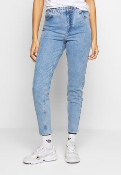 Pieces - MOM ELASTIC WAIST - Jeans Relaxed Fit - light blue denim