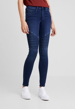 ONLY - ROYAL BIKER - Jeans Skinny Fit - dark blue denim