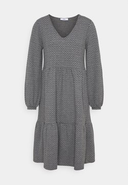 ONLY - ONLGRACE DRESS - Jerseykleid - dark grey melange/black