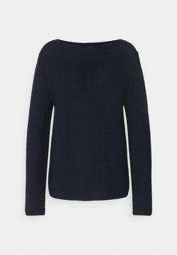 Marc O'Polo - LONGSLEEVE STAND UP - Strickpullover - night sky