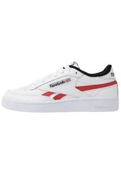 Reebok Classic - CLUB C REVENGE  - Sneaker low - white/black/legend active red