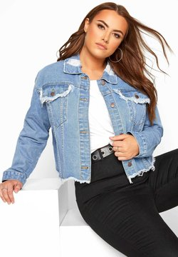 Yours Clothing - Denim jacket - blue