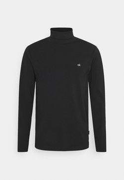 Calvin Klein - ROLL NECK LONG SLEEVE  - Langærmede T-shirts - black