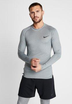 Nike Performance - PRO TIGHT MOCK - Funktionsshirt - smoke grey/light smoke grey/black