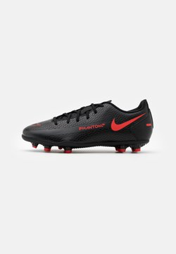 Nike Performance - JR PHANTOM GT CLUB FG/MG UNISEX - Voetbalschoenen met kunststof noppen - black/chile red/dark smoke grey