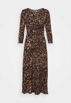 Dorothy Perkins Petite - ANIMAL EMPIRE SEAM MIDI DRESS - Vestido ligero - black